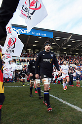 Charlie Ewels and the rest of the Bath Rugby team walk onto the field - Mandatory byline: Patrick Khachfe/JMP - 07966 386802 - 18/01/2020 - RUGBY UNION - Kingspan Stadium - Belfast, Northern Ireland - Ulster Rugby v Bath Rugby - Heineken Champions Cup