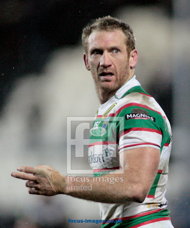 Picture by Richard Gould/Focus Images Ltd +447814 482222.23/02/2013.Michael Monaghan of Warrington Wolves  during the Stobart Super League match at the KC Stadium, Kingston upon Hull.