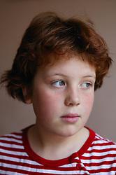 Portrait of girl looking sad,