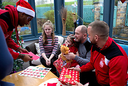 Mark Little and Aaron Wilbraham of Bristol City give out presents during Bristol City's visit to the Children's Hospice South West at Charlton Farm - Mandatory by-line: Robbie Stephenson/JMP - 21/12/2016 - FOOTBALL - Children's Hospice South West - Bristol , England - Bristol City Children's Hospice Visit