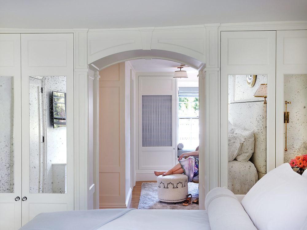 Master Bedroom of Beacon Hill Townhouse.  Designer: Patricia McDonagh Interior Design