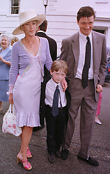 LADY COSIMA SOMERSET and LORD JOHNSTON SOMERSET with their son LYLE, at a wedding in London on 5th June 1999.MSW 101