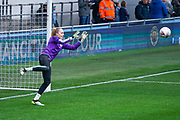Manchester City Women goalkeeper Ellie Roebuck (26) warming up during the FA Women's Super League match between Manchester City Women and West Ham United Women at the Sport City Academy Stadium, Manchester, United Kingdom on 17 November 2019.