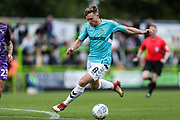 Forest Green Rovers Dayle Grubb(8) on the ball during the EFL Sky Bet League 2 match between Forest Green Rovers and Port Vale at the New Lawn, Forest Green, United Kingdom on 8 September 2018.