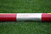 ANAHEIM, CA - APRIL 22:  A practice bat lies on the grass at the Los Angeles Angels of Anaheim game against the Detroit Tigers at Angel Stadium on Wednesday, April 22, 2009 in Anaheim, California.  The Tigers defeated the Angels 12-10.  (Photo by Paul Spinelli/MLB Photos via Getty Images)