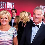 NLD/Utrecht/20130922 - Premiere Jersey Boys, Caroline Tensen en partner Ernst Jan Smids