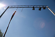 trapeze with theater lights