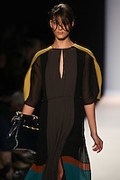 Katryn Kruger walks the runway wearing BCBG MAXAZRIA Fall 2012 during Mercedes-Benz Fashion Week in New York City,  on February 9th, 2012