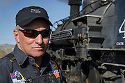 Carlos Llamas, from Gallup, New Mexico, holds the title of Engineer and Fireman aboard the Cumbres & Toltec Scenic Railroad.