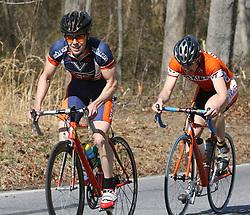 Mark Hardman on an uphill break away in the men's A road race at Johns Hopkins.  The race was held in Elkridge, Maryland.