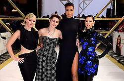 Elizabeth Banks, Kristen Stewart, Ella Balinska and Naomi Scott (left-right) attending the Charlie's Angels UK Premiere at the Curzon Mayfair, London.