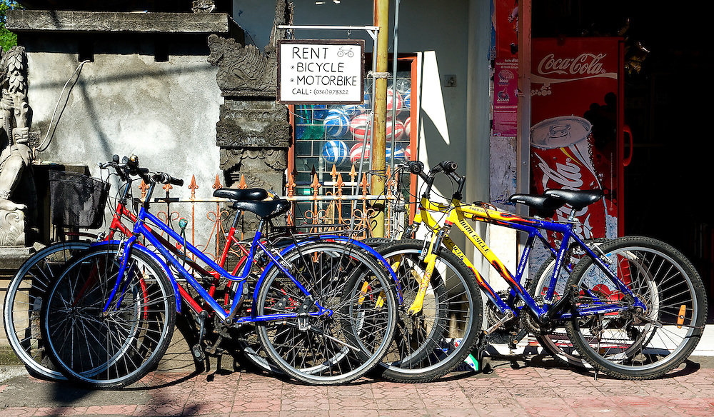 Bicycle for Rent at Ubud of Bali