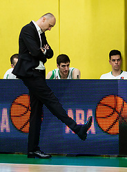 Jure Zdovc, coach of Petrol Olimpija during basketball match between KK Krka and KK Petrol Olimpija in 22nd Round of ABA League 2018/19, on March 17, 2019, in Arena Leon Stukelj, Novo mesto, Slovenia. Photo by Vid Ponikvar / Sportida