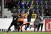 Luis Garcia celebrates after scoring a goal during the Jupiler Pro League matchday 4 between Kas Eupen and Kaa Gent on August 19, 2018 in Eupen, Belgium, Photo by David Hagemann /Isosport / Pro Shots / ProSportsImages / DPPI