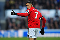 Alexis Sanchez of Manchester United gives a thumbs up - Mandatory by-line: Matt McNulty/JMP - 11/02/2018 - FOOTBALL - St James Park - Newcastle upon Tyne, England - Newcastle United v Manchester United - Premier League