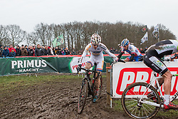 Kevin Pauwels (BEL) of Sunweb - Napoleon Games Cycling Team, Men Elite, Cyclo-cross World Cup Hoogerheide, The Netherlands, 25 January 2015, Photo by Pim Nijland / PelotonPhotos.com