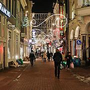 NLD/Amsterdam/20101129 - Nachtelijk straten gemeente Amsterdam, Kalverstraat