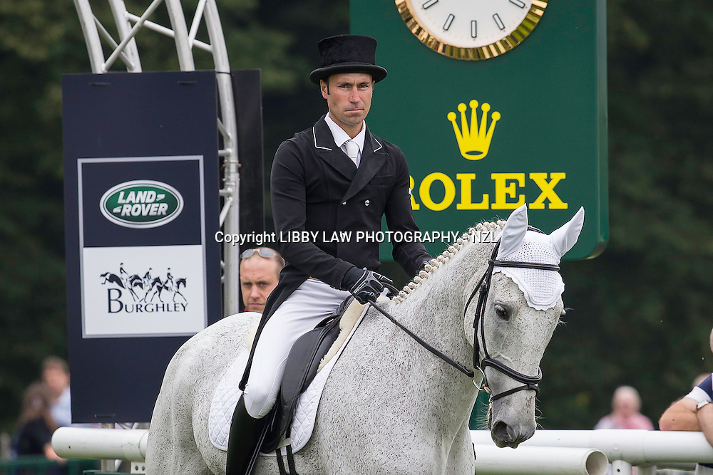 NZL-Neil Spratt (UPLEADON) INTERIM-=17TH: SECOND DAY OF DRESSAGE: 2014 GBR-Land Rover Burghley Horse Trial (Friday 5 September) CREDIT: Libby Law COPYRIGHT: LIBBY LAW PHOTOGRAPHY - NZL