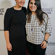 London, England, UK. 25th September 2017.Marilena Parouti is a Producer & Magdalini Parouti of TRENDY  attend Raindance Film Festival Screening at Vue Leicester Square, London, UK
