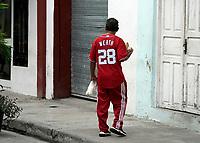 Man in ex Washington Nationals  baseball player Jason Werth jersey, Havana, Cuba 2020 from Santiago to Havana, and in between.  Santiago, Baracoa, Guantanamo, Holguin, Las Tunas, Camaguey, Santi Spiritus, Trinidad, Santa Clara, Cienfuegos, Matanzas, Havana