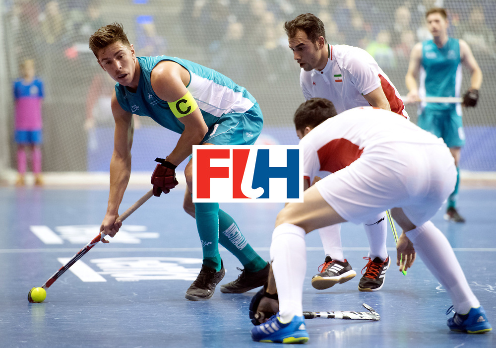 BERLIN - Indoor Hockey World Cup<br /> Bronze: Iran - Australia<br /> foto: Heath Ogilvie <br /> WORLDSPORTPICS COPYRIGHT FRANK UIJLENBROEK