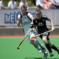 MELBOURNE - Champions Trophy men 2012<br /> Germany v New Zealand<br /> foto:  Jan Christopher Ruehr duel with Blair Tarrant.<br /> FFU PRESS AGENCY COPYRIGHT FRANK UIJLENBROEK