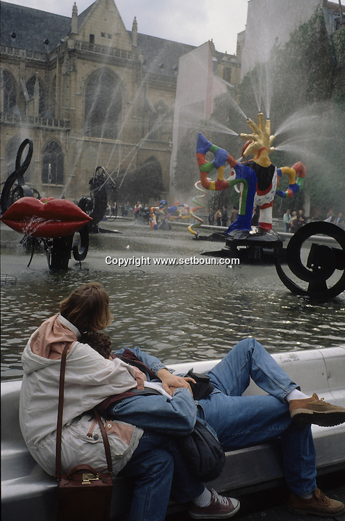 France. Paris. 4th district. Nickie de Saint Phalles fountain in Beaubourg