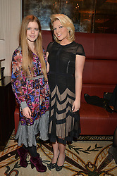 KATIE READMAN and NATALIE COYLE at a dinner hosted by Amy Molyneaux and Percy Parker of fashion label PPQ to celebrate the PPQ AW 2015 collection 'Persephone' held at Braserie Chavot, 41 Conduit Street, London on 22nd February 2015.