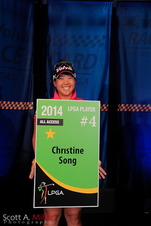Shophia Sheridan during the card ceremony at LPGA International on Sept. 30, 2013 in Daytona Beach, Florida. <br /> <br /> <br /> &copy;2013 Scott A. Miller