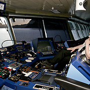 Three weeks aboard the Kong Harald. Hurtigruten, the Coastal Express. The security officer on the bridge.