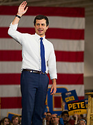 08 DECEMBER 2019 - CORALVILLE, IOWA: Mayor PETE BUTTIGIEG waves goodbye after speaking at a campaign event in Coralville, Iowa. Buttigieg, the mayor of South Bend, Indiana, is running to be the Democratic nominee for President in the 2020 election. Iowa traditionally holds the first presidential selection event of the 2020 election cycle. The Iowa Caucuses are on Feb. 3, 2020.   PHOTO BY JACK KURTZ