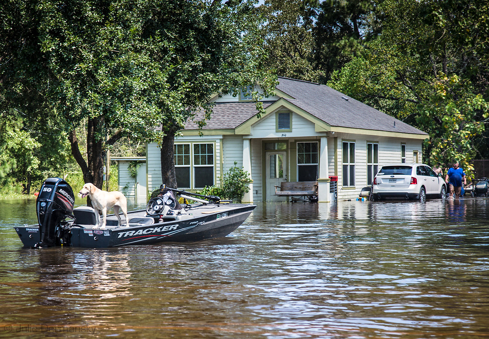 Sept 1, 2017  people getting around by boat in Vidor, Texas as the water continued to rise. .Hurricane Harvey, was downgraded to a tropical storm when it flooded Vidor, Texas and the sourounding area.