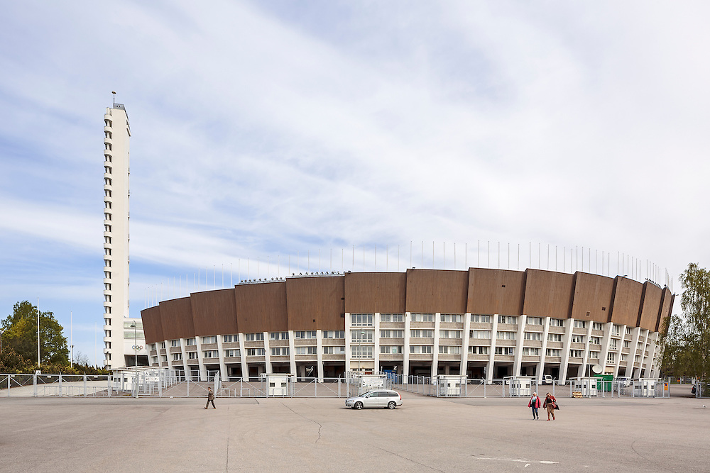 The Helsinki Olympic Stadium for the Summer Olympics of 1952