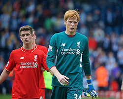 WEST BROMWICH, ENGLAND - Sunday, May 15, 2016: Liverpool's goalkeeper Adam Bogdan after the 1-1 draw against West Bromwich Albion during the final Premier League match of the season at the Hawthorns. (Pic by David Rawcliffe/Propaganda)