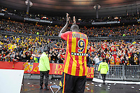 Joie supporters Lens / Adamo Coulibaly - 07.12.2014 - Lens / Lille - 17eme journee de Ligue 1<br />