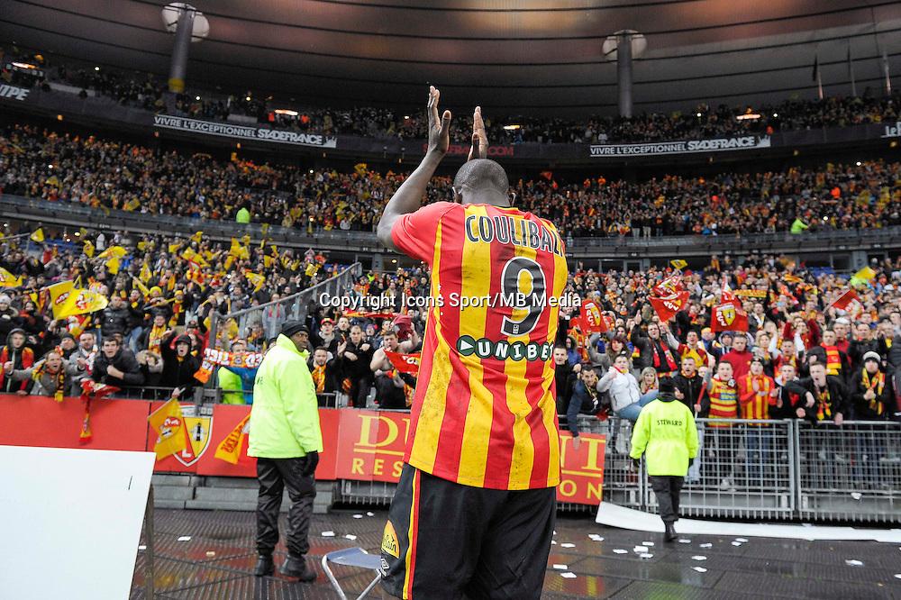 Joie supporters Lens / Adamo Coulibaly - 07.12.2014 - Lens / Lille - 17eme journee de Ligue 1<br />Photo : Andre Ferreira / Icon Sport
