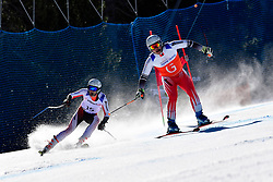DELEPLACE Hyacinthe Guide: JOURDAN Maxime, B2, FRA, Giant Slalom at the WPAS_2019 Alpine Skiing World Cup, La Molina, Spain