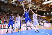 LIGNANO SABBIADORO, 14 LUGLIO 2015<br /> BASKET, EUROPEO MASCHILE UNDER 20<br /> ITALIA-LETTONIA<br /> NELLA FOTO: Jacopo Vedovato<br /> FOTO FIBA EUROPE/CASTORIA