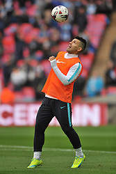 SERGIO AGUERO MANCHESTER CITY, Liverpool FC v Manchester City FC Capital One Cup Final, Wembley Stadium, Sunday 28th Febuary 2016