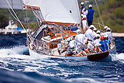 Lone Fox sailing in the 2010 Antigua Classic Yacht Regatta, Windward Race, day 4.