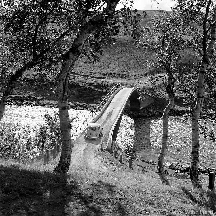 Fnj&oacute;sk&aacute;br&uacute;, 1970. H&aacute;lshreppur - seinna: &THORN;ingeyjarsveit /   Bridge over river Fnjoska 1970,  Halshreppur later: Thingeyjarhreppur.<br /> -<br /> From the anniversary exhibitions &quot;Augnagaman&quot; and &quot;Mats 1956-1978&quot;