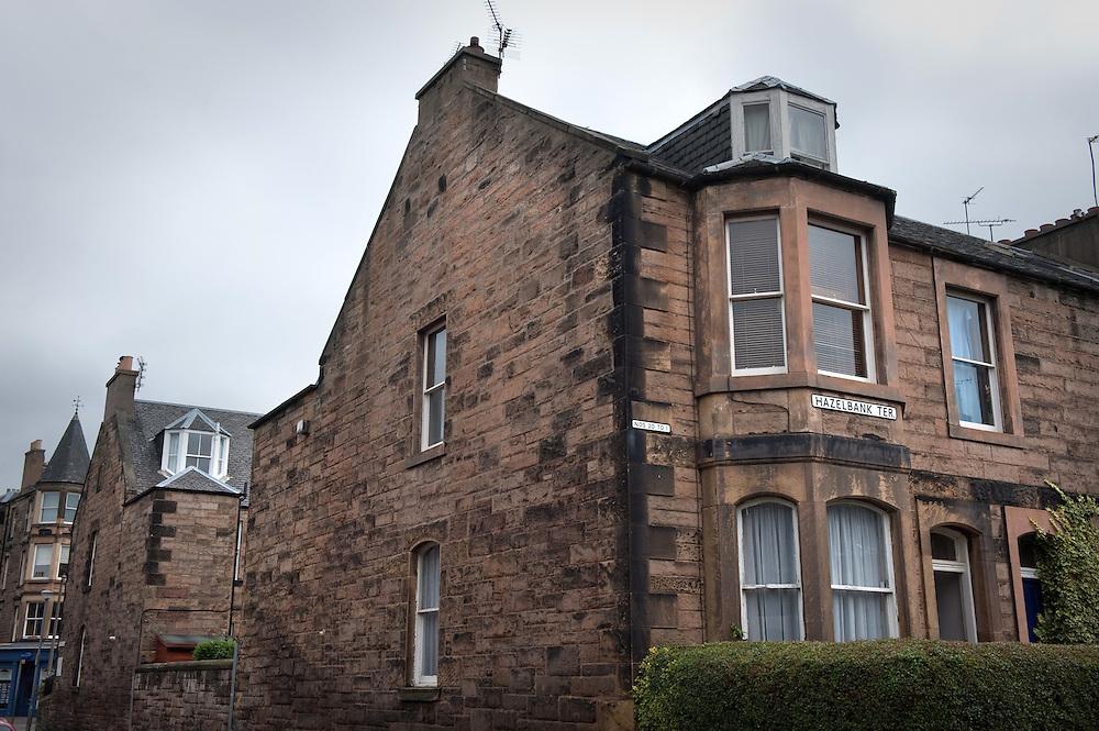 Hazelbank Terrace, Edinburgh, Scotland, where the author JK Rowling lived from 1997-2000.
