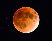 A lunar eclipse of the moon in Montana.