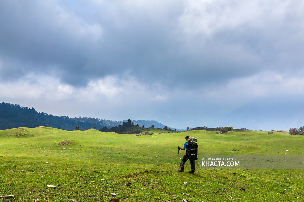 Meadows on the ancient silk route to Tibet in Uttarakhand
