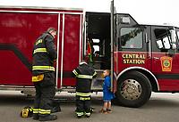 "Make A Wish - ""Fireman Paul"" at Laconia Fire Department.   ©2018 Karen Bobotas Photographer"