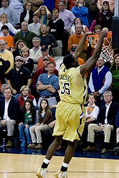 Georgia Tech forward Zach Peacock (35) dunks against UVA.  The Virginia Cavaliers men's basketball team fell to the Georgia Tech Yellow Jackets 92-82 in overtime at the John Paul Jones Arena in Charlottesville, VA on January 27, 2008.