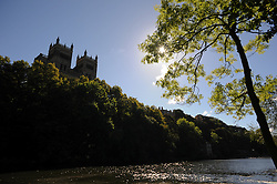 © Licensed to London News Pictures. <br /> 24/09/2014. <br /> <br /> Durham, United Kingdom<br /> <br /> Durham Cathedral stands overlooking the River Wear in Durham City.<br /> <br /> <br /> Photo credit : Ian Forsyth/LNP