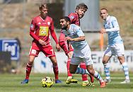 Daniel Norouzi (FC Helsingør) under træningskampen mellem Lyngby Boldklub og FC Helsingør den 3. juli 2019 på Lyngby Stadion (Foto: Claus Birch)