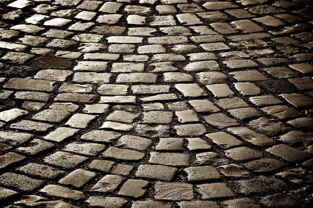 Close up of a Cobble stone street in Bacharach am Rhein