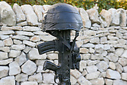 The Royal Air Force Regiment Memorial at the National Memorial Arboretum, Croxall Road, Alrewas, Burton-On-Trent,  Staffordshire, on 29 October 2018. Picture by Mick Haynes.
